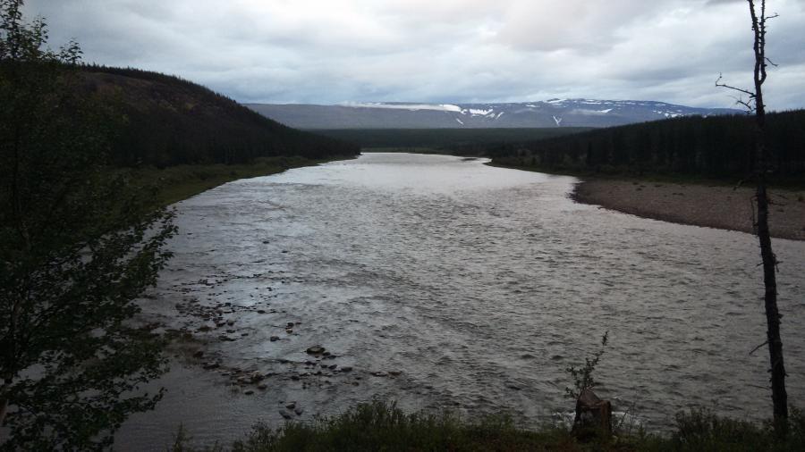 Река Кожим Карта
